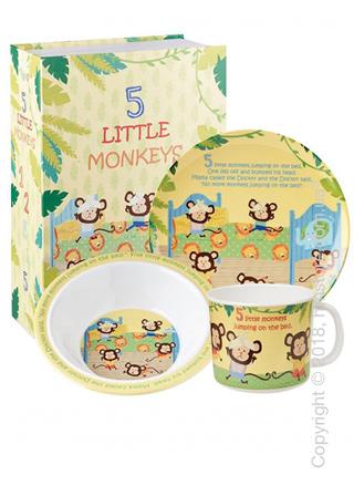 Набор детской посуды Churchill 5 Little Monkeys Melamine Set, 3 предмета