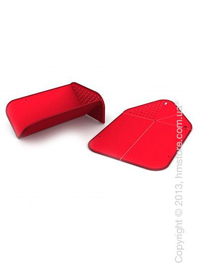 Разделочная доска Joseph Joseph Rinse & Chop Plus, Красная