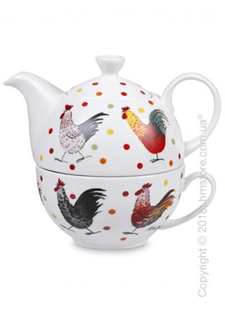 Набор чайник заварочный с чашкой Churchill Alex Clark Rooster Tea for One, 2 предмета