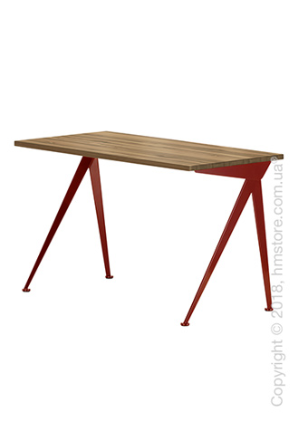 Стол Vitra Compas Direction, American Walnut and Japanese Red