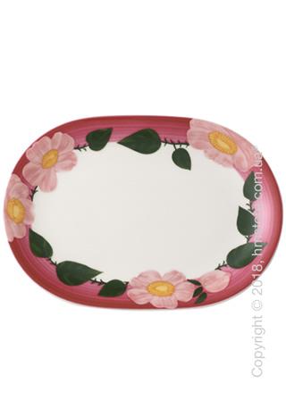 Блюдо для подачи овальное Villeroy & Boch коллекция Rose Sauvage Framboise, 31х21 см