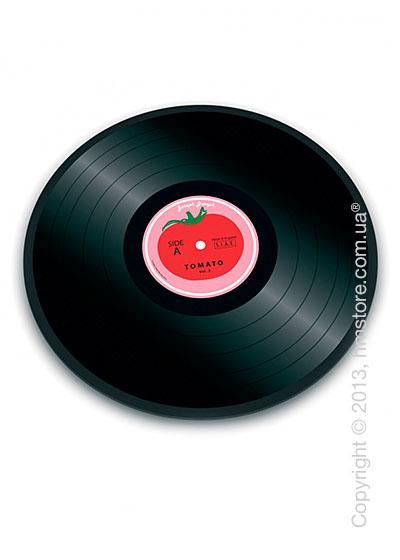 Разделочная доска стеклянная Joseph Joseph Vinyl Records, Виниловая пластинка томат