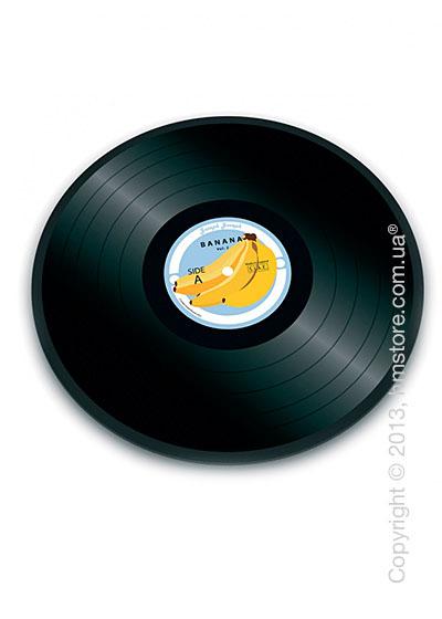Разделочная доска стеклянная Joseph Joseph Vinyl Records, Виниловая пластинка банан