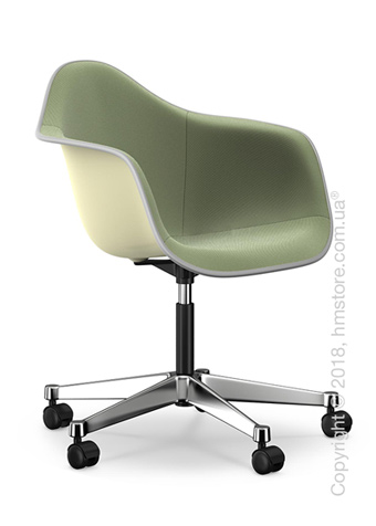 Кресло Vitra Eames Plastic Armchair PACC with full upholstery, Cream shell, Ivory Forest