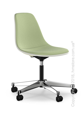 Кресло Vitra Eames Plastic Side Chair PSCC with full upholstery, Cream shell and Ivory Forest