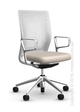 Кресло Vitra ID Air Soft Grey, Plano Parchment Cream White
