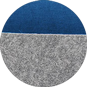 Набор корзин Calligaris Dorian, Polyester felt grey and Blue