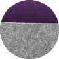 Набор корзин Calligaris Dorian, Polyester felt grey and Violet