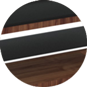 Подставка под телевизор Calligaris Element, Veneer walnut and Frosted tempered glass black