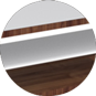 Стол Calligaris Element console table, Veneer walnut and Frosted tempered glass extrawhite