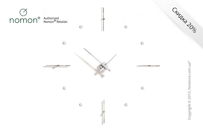 Часы настенные Nomon Mixto I Wall Clock, Steel