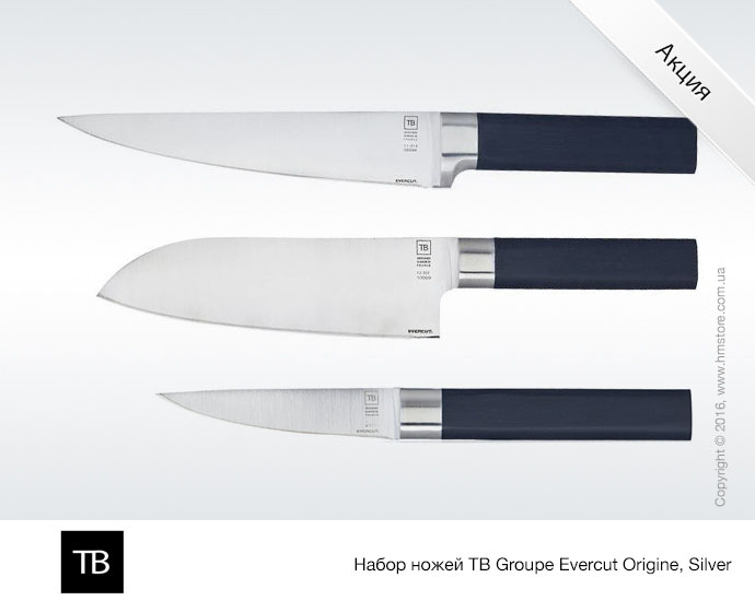 Набор ножей TB Groupe Evercut Origine, Silver