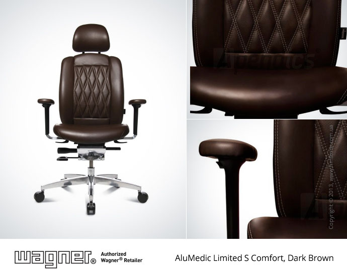 Кресло Wagner AluMedic Limited S Comfort, Dark Brown, Part NO.: AO9CDV77+