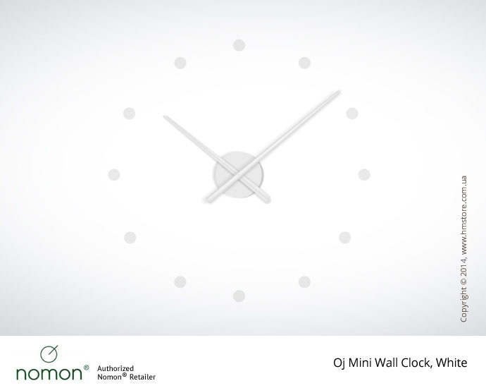 Часы настенные Nomon Oj Mini Wall Clock, White