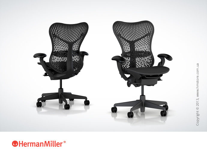 Кресло Herman Miller Mirra, Part NO.: MR123AAMAJG1C7G1BK3Q11