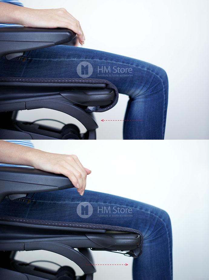 Регулируемая глубина сиденья кресла Herman Miller Embody